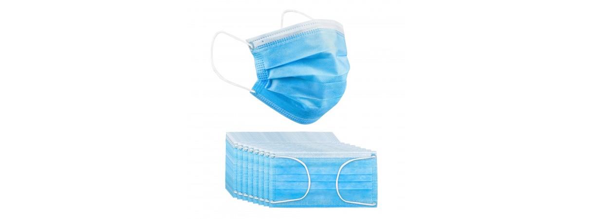 Disposable Face Mask, Breathable Dust Protection Masks 4-Layper Ear Loop 50pcs