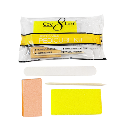 "Cre8tion Disposable   Pedicure kits ""YELLOW"""