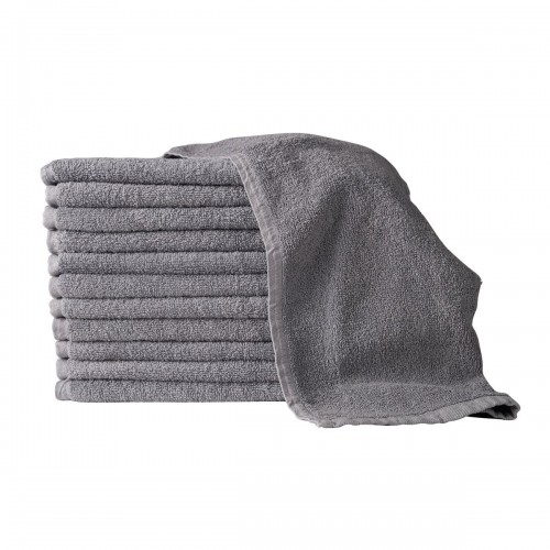 16X27 100% COTTON HAND & SALON TOWEL 2.75 LBS. CHARCOAL GRAY 12PCS