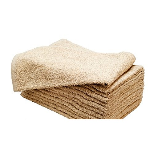 16X27 100% COTTON HAND & SALON TOWEL 2.75 LBS. CAMEL TAUPE 12PCS