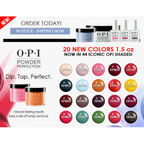 O P I Dipping Powder 20 New Colors 1 5oz 20pcs Total