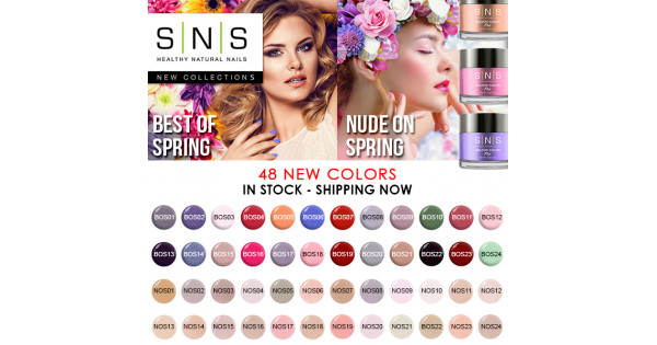 Sns Dipping Powder Best Of Spring Collection 24pcs 2018 Bos01 Bos24