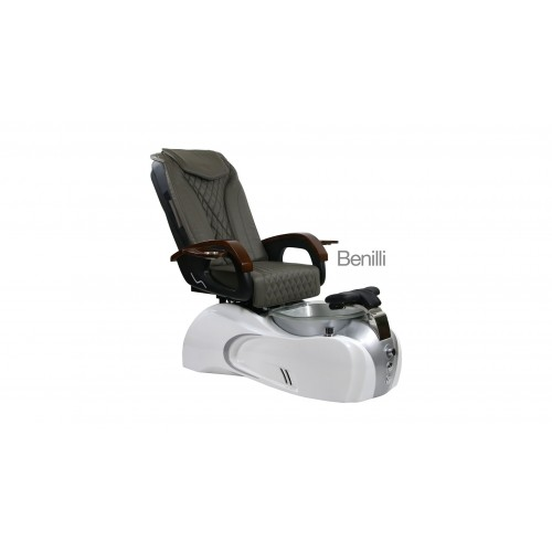 Benilli – Pedicure Spa Chair – White Silver