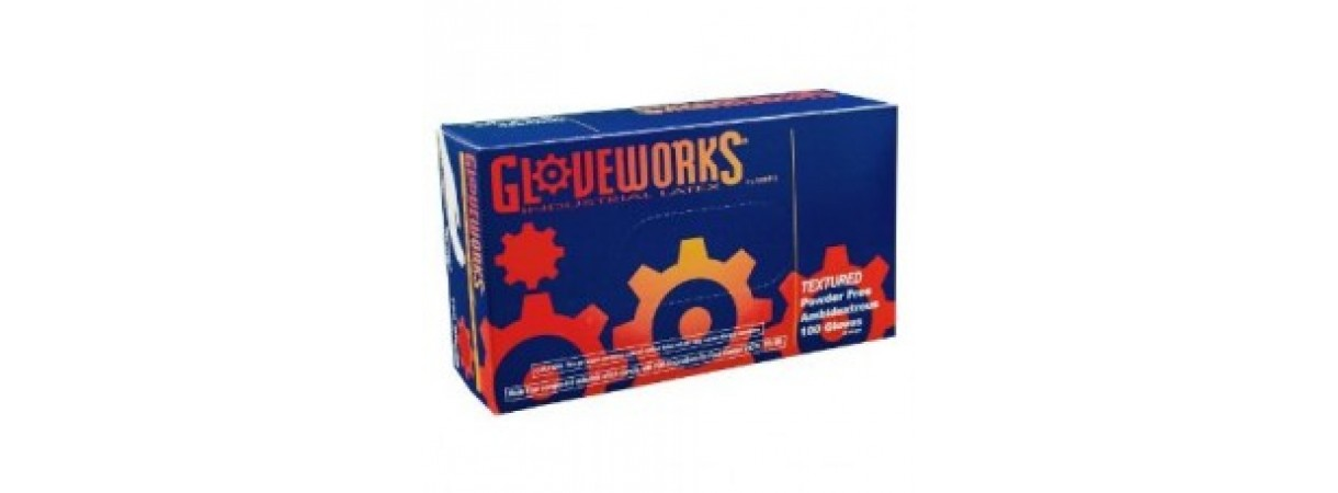 Ammex TLF Gloveworks Latex Glove, Disposable, Powder Free .SIZE SMALL (CASE)