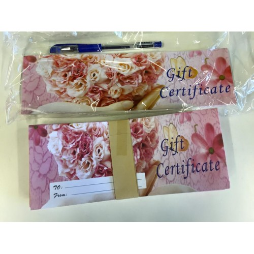 Gift Certificate with envelope VS4 rose
